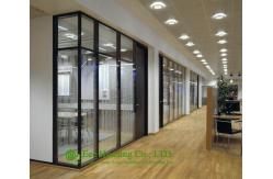 s paration fixe de cadre en aluminium pour le bureau s paration en verre de bureau noir de. Black Bedroom Furniture Sets. Home Design Ideas