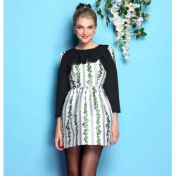 China wholesale brand women dress women apparel fashion women clothing wholesale brand fashion BL862-green-a on sale