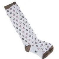 OEM Sporty Breathable Knitted Cotton White Knee High Tube Socks For Girls