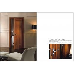 China Custom Vertical Side Hinged Door, Internal Wooden Folding Doors With Carved HDF Board on sale
