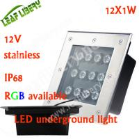 12w led ground light, garden light 12v led ,square underground light