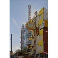 220V Aluminum alloy vertical lift platform mast climbing work platform and  scaffolding system
