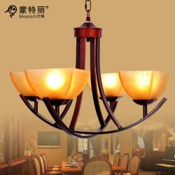 China American Style Bordeaux Metal Wrought Iron Chandelier , House E27 LED Chandeliers on sale
