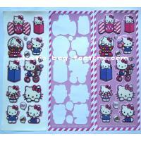 Customised kawaii colorful cartoon 3D EVA puffy stickers for kids / school