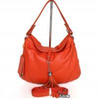 Lady Style Popular Orange Leather Handbag Messenger Shoulder Bag #2490