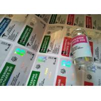Pharmaceutical Steroid Strong Adhesive Labels 10ml Hologram Vial Labels For Apex Steroids