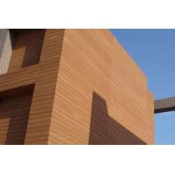 China Wood Composite Plastic Wood Fence Slats / Wooden Cladding For Exterior Walls on sale