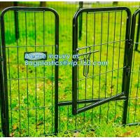 Aluminum simple easily assembled Big single-door large steel dog animal cage, Puppy Cage 8 Panel Metal Fence Run Garden