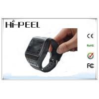 Black SIM Card GSM Wrist Watch Phone , Kids Cell Phone Watch