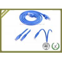 Blue Color Cat6 Network Patch Cord 24AWG With RJ45 Plug Connector