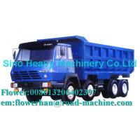 Blue 290hp Unloading Heavy Duty Dump Truck 8 x 4 , 50 Ton Trucks