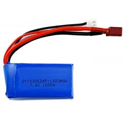 China 103052 25C RC Car Batteries 7.4V 1400mAh Deep Cycle Lithium Battery 20*30*55mm on sale
