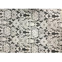 China White Swiss Cotton Embroidery Lace Fabric , Cotton Lace Trim For Party on sale