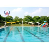 High Strength Cable Membrane Structures , PVDF Fabric Sails Swimming Pool Shade Structures