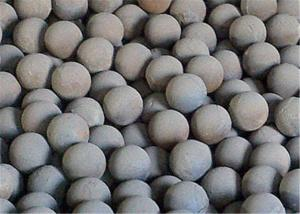 Cast Iron Automobile Forged Steel Grinding Balls for Mining / Cement Plants Hardness 56 - 62 HRC