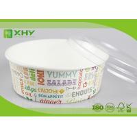 No Leak 1000ML Paper Salad Bowls Food Grade FDA & FSC & BRC & ISO Certification