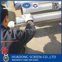 8''5/8 slot 1.0mm 25/50bar 20% open area 5.8m length continuous slot Johnson type screen pipe for irrigation well