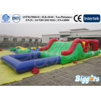 Funny Inflatable Water Slide Bouncer Inflatable Obstacle Course Amusement Park