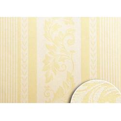 China Natural Non Woven Low Price Wallpaper , Yellow Striped Wallpaper For Living Rooms on sale