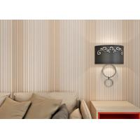 Dark Pink Home Decor Wallpaper / Living Room Striped Wallpaper With Printed Surface Treatment