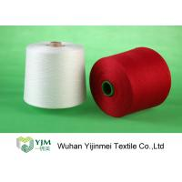 Bright Red / White 100 Polyester Yarn Sewing Thread , Polyester Core Spun Yarn Knotless