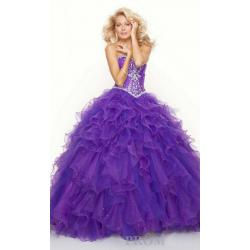 China NEW Sweetheart Organza Quinceanera Graduation Prom Dress Events Formal Evening Ball Gowns on sale