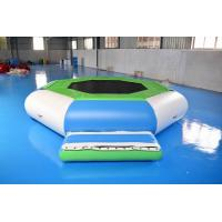 Water Trampoline Combo , Inflatable Water Trampoline With Slide For Fun