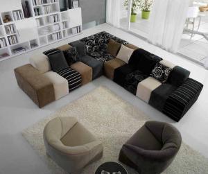 Fashional grey purple brown modern fabric sofas color - El mejor sofa ...