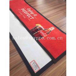 China Thin No - woven Slip Wine PVC Rubber Bar Mat Custom Brand Logo Beer Drain Mats Decanters Accessories on sale