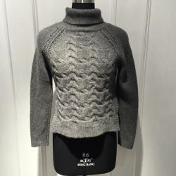 China Ladies Cable Knitted Wool Loose Knit Sweater , Long Sleeve Turtle Neck Sweater Pullover on sale