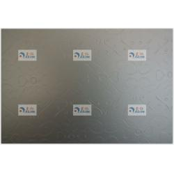 China Stucco Embossed Aluminum Sheet White or Silver Anodized Finish with various patterns on sale