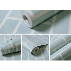 China Non Woven Blue Brick Self Adhesive Textured Wallpaper Waterproof with OEM Service on sale