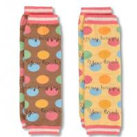 Cute Snagging resistance Baby Cotton Knitted Ball protect arm warmer with dotted