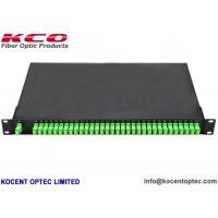 SC/APC Connector 1*32 Fiber Optic PLC Splitter Patch Panel 1x32 Rack Mount Terminal Box
