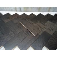 White Oak Parquet Herringbone (stained wenge color)