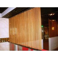 Decorative Wire Mesh Curtain Coil Drapery Stainless Steel / Aluminum Materials
