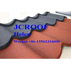 China Wave Colorful Stone Coated Roofing Sheet 1340*420*0.4mm Good Durability And Long Life on sale