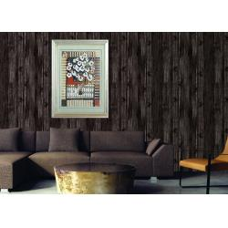 China Retro Wood 3D Home Wallpaper Household 0.53*10m / roll , Non - pasted on sale