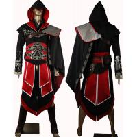 Game Costumes Wholesale  Assassin's Creed 2 II Ezio Black Outfit Cosplay Costume New Version from Assassin's Creed 2