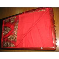 A-grade Fashion Ladies Red Printed Silk Pashmina Scarf Of Autumn