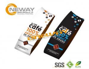 Foil Coffee Bags With Valve Black Matt Roasted Coffee Bean Packaging Bag