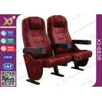 Plastic Armrest Metal Frame Floor Fixed Standing Movie Theater Seating Chairs