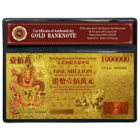 AUD5 Hk $1 Million 3D 24k Gold Banknote Collection With Brand Logo
