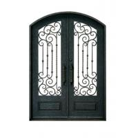 Double Swing Ornamental Iron Parts Exterior Iron Front Doors European Style