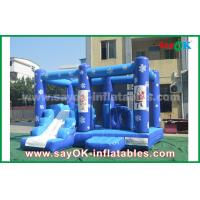 Customized 0.55mm PVC Tarpaulin Inflatable Castle Frozen Obstacle Course For Children