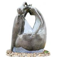 Fiberglass Resin Garden Fountains Beautiful Lady Marble Color for Garden Decorative