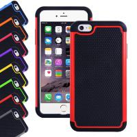 Apple Iphone 6 plus 5.5 inch silicone cell phone covers with Hard plastic case