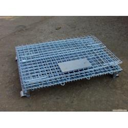 China Galvanized Foldable Wire Mesh Security Cage, Warehouse Wire Storage Cages on sale