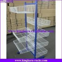 wire basket display stand