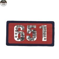 Luxury Embroidered Letter Patches / Garment Embroidered Number Patches